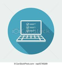 digital drawing website checklist digital document vector icon for computer vector