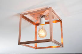 copper flush mount light copper ceiling light flush mount light industrial modern