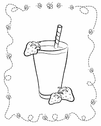 food coloring pages for kids strawberry milkshake