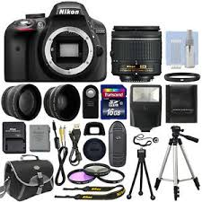 black friday nikon d3300 nikon d3300 digital slr camera black 3 lens 18 55mm lens 16gb