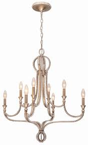 8 Light Pendant Chandelier 8 Light Distressed Twilight Eclectic Chandelier Draped In Cut