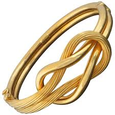 classic gold bracelet images Ilias lalaounis classic modern hercules knot gold bracelet at 1stdibs jpg