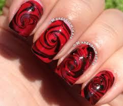 nail art how to nail designs nail tutorials water marble red