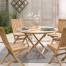 Wood Dining Chairs Folding Teak Wood Outdoor Dining Furniture Vivaterra