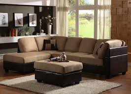 Brown Sectional Sofa With Chaise Furniture Living Room Apartment Interior Design With White Color