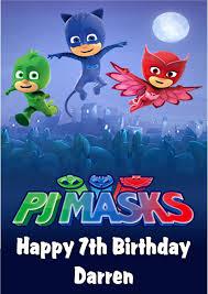 personalised pj masks birthday card