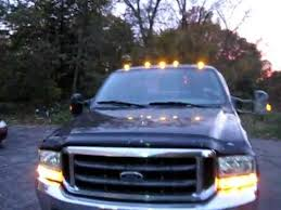 ford f250 cab lights kit ford superduty led strobe cab lights youtube