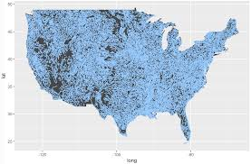 Data Map How To Map Geospatial Data Usa Rivers Sharp Sight Labs