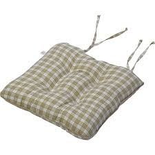 tie on square gingham chair seat pad cushion outdoor garden dining