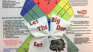 bow supplies how to make cheer bows with text and graphics