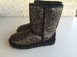 s ugg boots collection ugg official ugg australia glitter leopard print boot black 1006883
