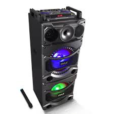 bluetooth party speakers with lights pyle psufm1038bt home and office pa loudspeakers cabinet