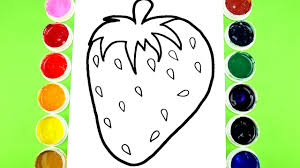 drawing fruits strawberry coloring pages super giant strawberry