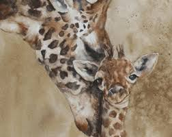 asian giraffe ring holder images Watercolor paintings prints and jewelry by rachellelevingston jpg