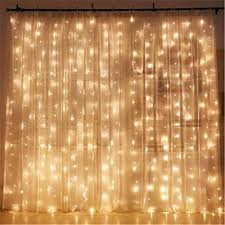 Curtain Christmas Lights Indoors Twinkle Star 300 Led Window Curtain String Light Christmas Wedding