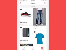 wish list app wishlist itme commerce app ui design mobile