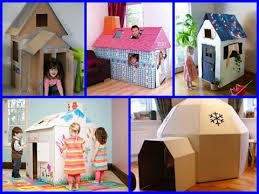 diy playhouse for kids with cardboard 11 easy craft for kids