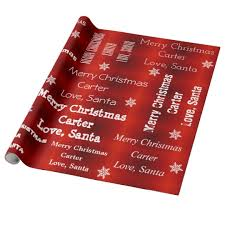 personalized gift wrapping paper personalized santa christmas wrapping paper zazzle