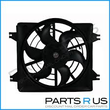 hyundai excel x3 94 00 sohc new radiator thermo cooling fan