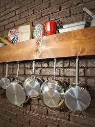 diy kitchen storage shelf and pot rack hgtv