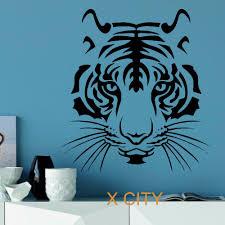 online get cheap stencil wall animal aliexpress com alibaba group tiger head wild animal wall sticker vinyl art decal stencil window door room decoration mural