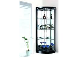 wood curio cabinet with glass doors black corner curio cabinet wood display sliding glass door hutch
