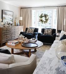 blue velvet chairs eclectic living room cameron macneil designer