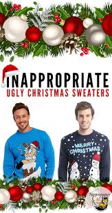 the best naughty and inappropriate ugly christmas sweaters for
