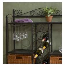 metal low wine rack storage rattan wicker baskets durable glass