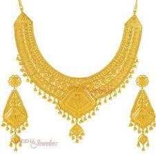 wedding gold set gold necklace and earrings set 22kt indian jewelry with