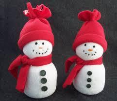 sock snowman easy craft winter crafts