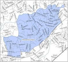 Charlotte Map Providence Spring Elementary Cms Boundary Map