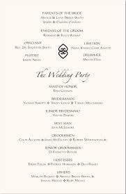 wedding programs wording wedding program sle text hnc