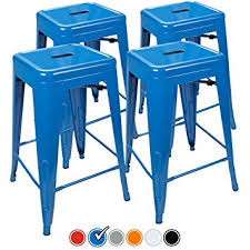 outdoor kitchen bar stools amazon com 24 counter height bar stools blue by urbanmod