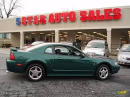 ford mustang 2003 2003 tropic green metallic ford mustang v6 coupe 12683939