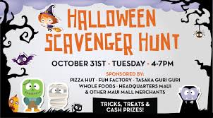 thanksgiving internet scavenger hunt halloween at the maui mall maui time