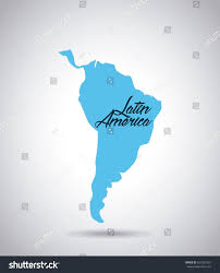 Latin America Map by Latin America Map Icon Over White Stock Vector 541932301