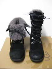 s ugg lace up boots ugg australia suede lace up mid calf boots for ebay
