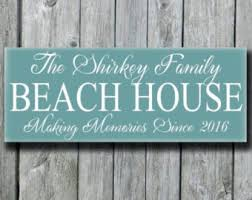 Personalized Home Decor Signs Beach House Decor Etsy