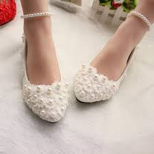pearl wedding shoes pearls and lace 2016 wedding shoes flats bridal shoes sweet