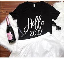 new years t shirts hello 2017 v neck t shirt s 2xl women s apparel new years top