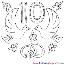 anniversary coloring pages virtren com