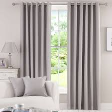 Blackout Window Treatments Grey Herringbone Blackout Eyelet Curtains Dunelm New