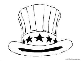 coloring hat coloring page