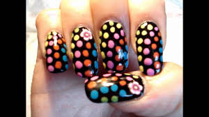 60 u0027s neon retro psychedelic hippie nail art by gettingnailed youtube