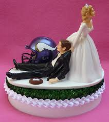 sports cake toppers wedding cake topper minnesota vikings vikes football themed