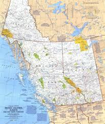 bc map 1978 columbia alberta and the yukon territory map side 1
