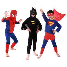 kid toddler boys superman batman spider man cosplay halloween
