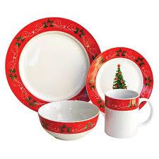 christmas dinnerware american atelier classic christmas dinnerware set 16 pc stoneware