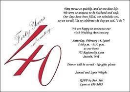 40th anniversary invitations 40th anniversary party invitations cimvitation